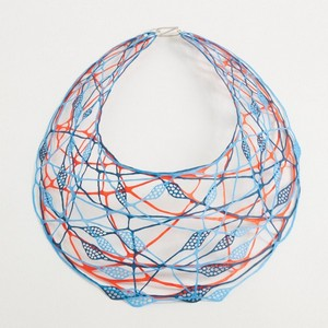 necklace willroth blue red