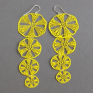 Earrings alena willroth yellow