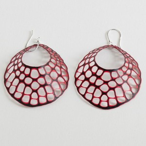 earrings alena willroth black red