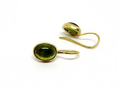 Ohrringe - 750er GG mit ovalen grünen Turmalinen 6