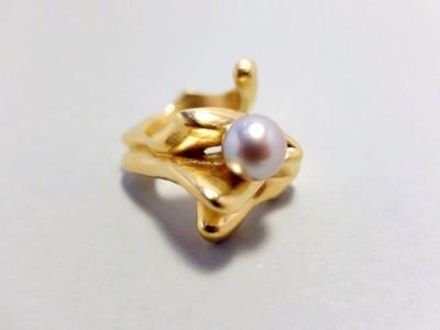 Miriam organischer Ring gp mit Perle