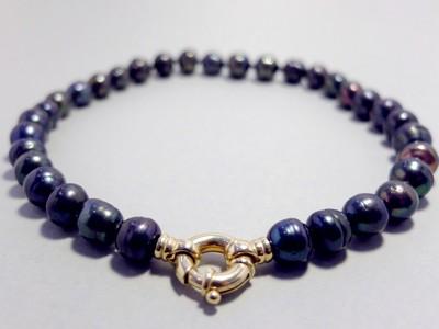 Miriam schwarze Perlenkette
