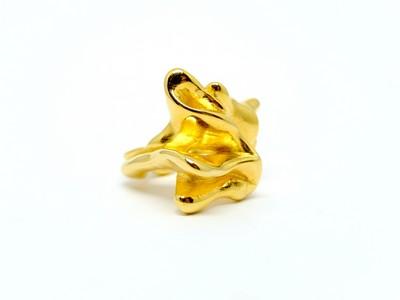 Miriam-von-Versen-Organischer-Ring-goldplattiert-1