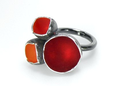 Ring Becherling rot orange