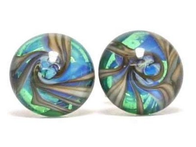 Abalonix glass ear studs Thor Karlsen glass (1)